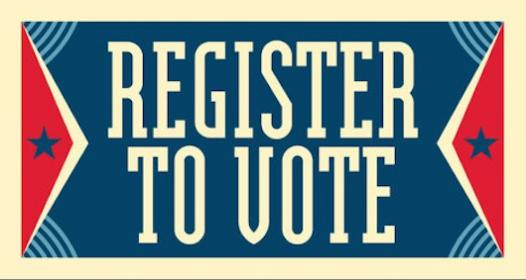 wood library register to vote today